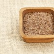 Brown flax seeds - Foto de Stock
