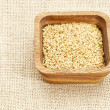 Gold flax seeds - Foto de Stock