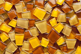 Amber glass mosaic tiles — Stock Photo