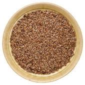 Brown flax seeds — Stock Photo