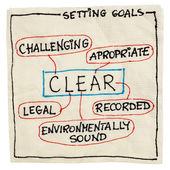 Clear goal setting concept — Stock Photo