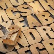 Question mark and alphabet — Stock Photo
