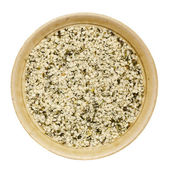 Shelled hemp seeds — Stock Photo