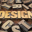 Design concept in wood type — Stock Photo