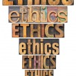 Ethics exclamation point — Stock Photo #12701348