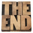 End in wood type — Stock Photo #12860288