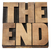 The end in wood type — Stock Photo