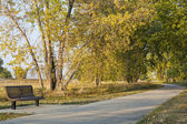 Recreational biking trail — Стоковое фото