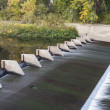 River diversion dam - Stockfoto