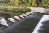 River diversion dam — Stock Photo