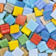 Colorful glass mosaic tiles — Stock Photo