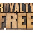 Stock Photo: Royalty free in wood type