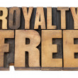 Foto Stock: Royalty free in wood type