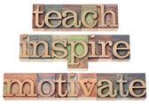 Uczyć, inspirować, motywować — Zdjęcie stockowe