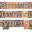 Teamwork, networking and synergy — Stock Photo