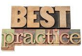 Best practice in wood type — Stock fotografie