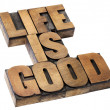 Life is good - positivity concept — Stock Photo