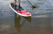 Remo stand up paddleboard — Fotografia Stock