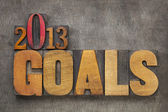 2013 goals — Stock Photo