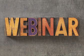 Webinar in wood type — Stock Photo