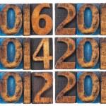 Incoming years 2012-2017 — Stock Photo #14728999