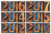 Incoming years 2012-2017 — Stock Photo