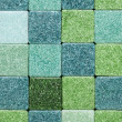 Green glass tiles - Stockfoto