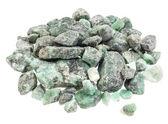 Raw emerald gemstones — Stock Photo