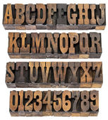 Vintage letters and numbers — Stock Photo