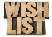 список пожеланий в породы древесины — Стоковое фото