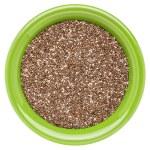 Bowl of chia seeds — Stock Photo