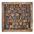 Vintage wood type printing blocks — Stock Photo #15429253