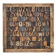 Vintage wood type printing blocks — Stock Photo