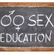 Stock Photo: Sex education on blackboard
