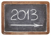 2013 year on blackboard — Stock Photo