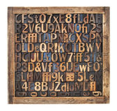 Vintage wood type printing blocks — Foto de Stock