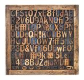 Vintage wood type printing blocks — Stock Photo