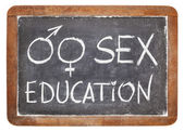 Sex education on blackboard — Stock Photo