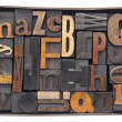 Vintage wood alphabet in box — Stock Photo #15705033