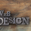 Foto Stock: Web design in metal type blocks