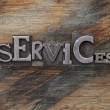 Services word in metal type blocks — Stock Photo #16322959