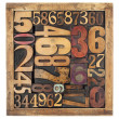 Stock Photo: Number abstract in wood type