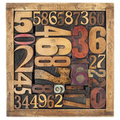 Number abstract in wood type — Stock Photo