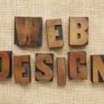 Web design in wood type blocks — Stock Photo