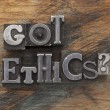 Stock Photo: Got ethics question
