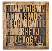 Ročník abeceda písmen — Stock fotografie