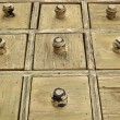 Stock Photo: Rustic drawer cabinet