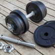 Cast iron dumbbell — Foto Stock