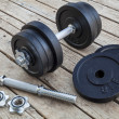 Cast iron dumbbell — Stockfoto