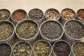 Loose leaf tea background — Stock Photo